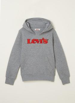 Levi's Hoodie met logoprint van badstof