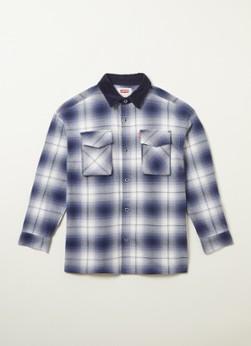 Levi's Overhemd met ruitdessin en borstzakken