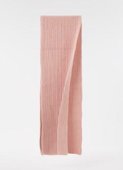 Calvin Klein Ribgebreide sjaal met logo 140 x 30 cm