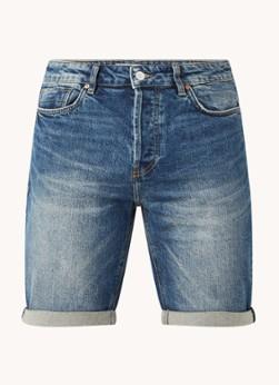 America Today Robert straight fit korte spijkerbroek met steekzakken