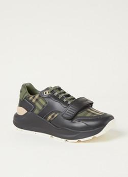 BURBERRY Ramsey sneaker met kalfsleren details