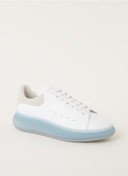 Alexander McQueen Oversized sneaker van kalfsleer met suède details
