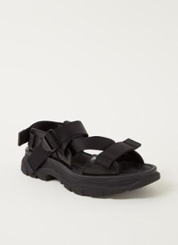 Alexander McQueen Tread sandaal met leren details