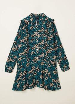 NIK&NIK A-lijn jurk Ivy van gerecycled polyester groen/zand online kopen