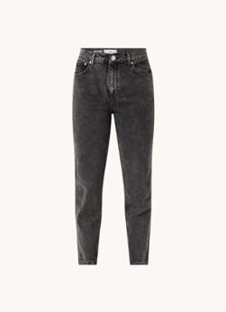 MANGO High waist straight leg cropped mom jeans