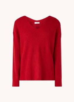MANGO Boop grofgebreide pullover met V-hals