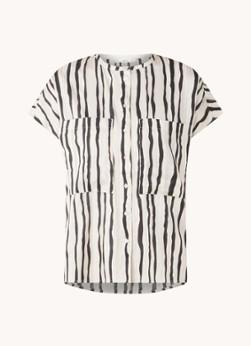 MANGO Ibiza blouse met streepprint