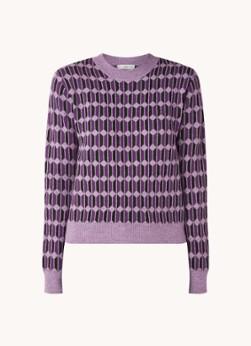 MANGO Alyssa fijngebreide trui met grafische print