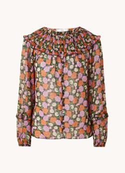 MANGO Margot blouse met smockwerk en ruches