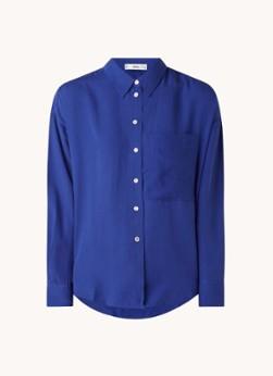 MANGO Lima blouse met borstzak