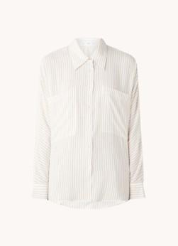 MANGO Abril blouse in linnenblend met streepprint