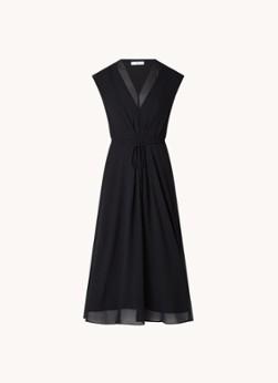 MANGO Wind semi-transparante midi jurk met strikceintuur