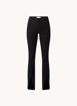 MANGO High waist straight fit legging met split