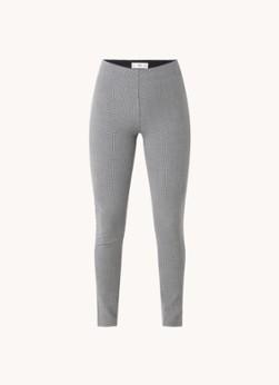 MANGO Mid waist skinny fit cropped legging met ruitdessin