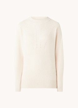 MANGO Villa grofgebreide sweater met ronde hals