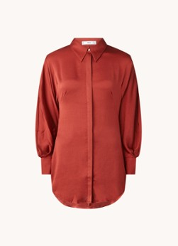 MANGO Miranda oversized blouse van satijn