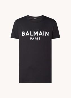 Balmain T-shirt met flockprint