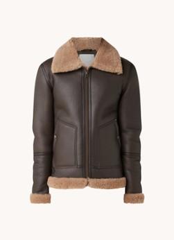 Goosecraft London lammy coat van schapenleer