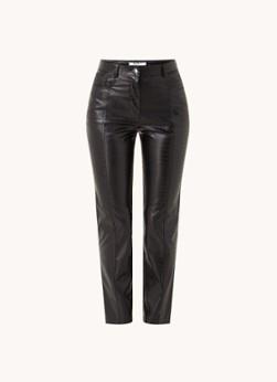 NA-KD High waist slim fit pantalon van imitatieleer