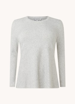 Catia fijngebreide pullover in wolblend