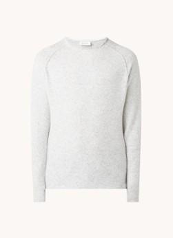Damsville fijngebreide pullover in wolblend