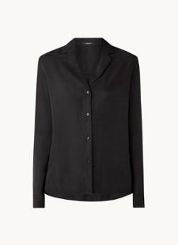 Denham Jamie blouse van suèdine met V-hals