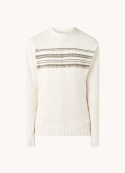 Duramm fijngebreid trui met streepprint