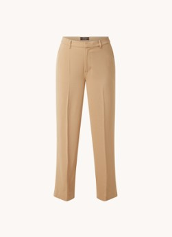 Edie high waist wide fit pantalon met persplooi