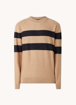 Fijngebreide pullover met streepprint