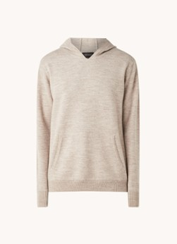 Fijngebreide hoodie van wol