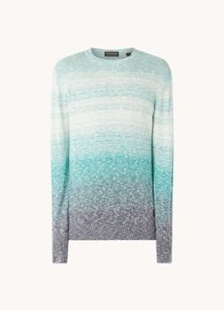 Fijnbgebreide pullover met dip dye dessin