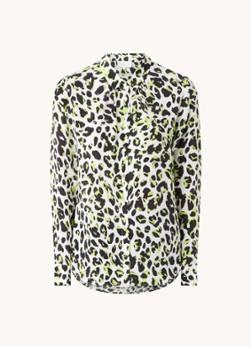 Damsel in a Dress Blouse in zjideblend met panterprint
