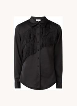 Damsel in a Dress Branwen blouse van satijn met franjes