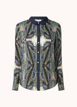 Damsel in a Dress Sedona blouse van satijn met paisley dessin