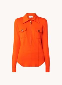 Damsel in a Dress Kadie blouse van jersey met halve rits