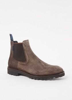 Floris van Bommel Sturdi suède chelsea boots taupe online kopen