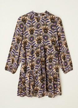 Scotch and Soda Jurken Girls Wider-fit all-over printed dress Zwart online kopen
