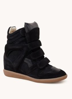 Bekett sneakerwedge van suède