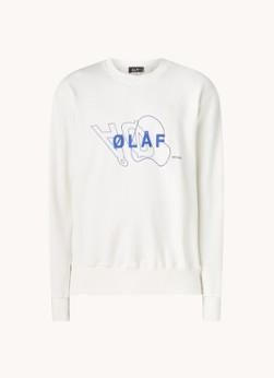Olaf Hussein Sweater met logoprint