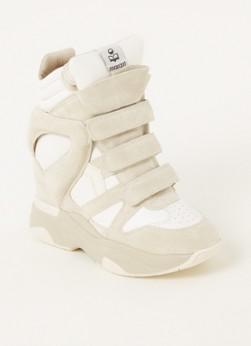 Balskee sneaker met sleehak en lamsleren details