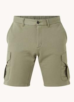 Tommy Hilfiger Straight fit korte joggingbroek met klepzakken