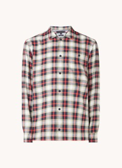 Tommy Hilfiger Regular fit overhemd in linnenblend