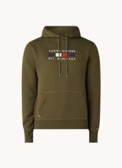 Tommy Hilfiger Four Flags hoodie met logoborduring