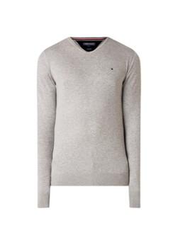 Core Cotton pullover in zijdeblend met V hals