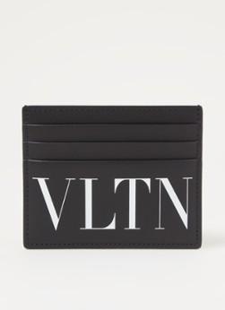 Valentino VLTN pasjeshouder van kalfsleer met logo