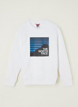 The North Face Sweater met frontprint en logo