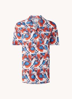 Tommy Hilfiger Regular fit overhemd met print en borstzak