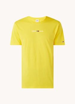 Tommy Hilfiger T-shirt van biologisch katoen met logoborduring
