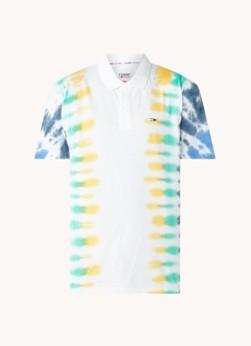 Tommy Hilfiger Regular fit polo met tie-dye dessin