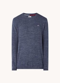 Tommy Hilfiger Fijngebreide pullover met gemêleerd dessin
